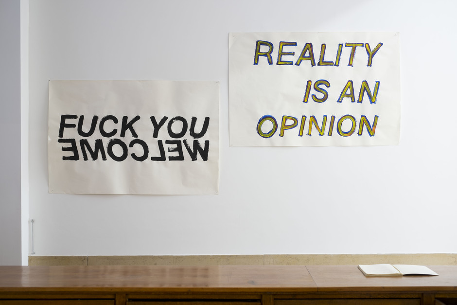 Untitled (Fuck You / Welcome) & Untitled (Reality is an opinion) - Stanislas Lahaut