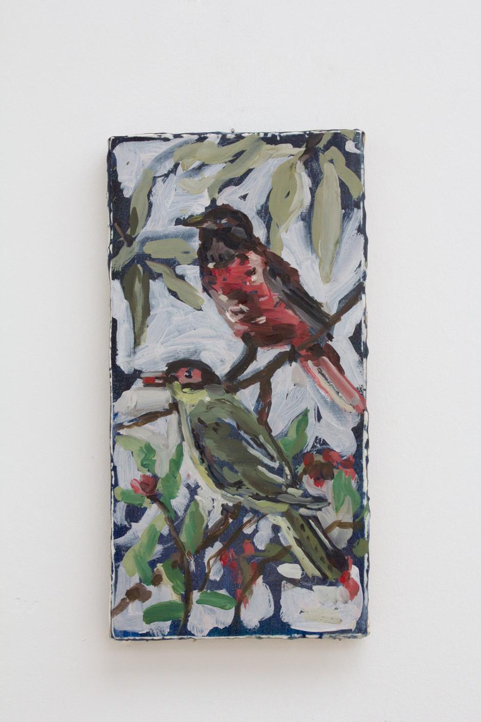 Untitled (Two birds) - Isa De Leener