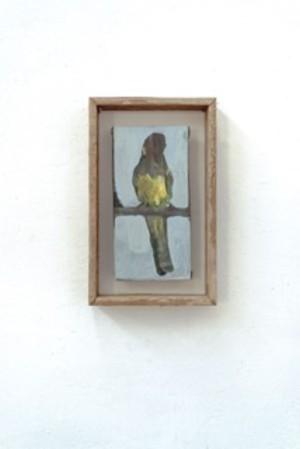 Isa De Leener: Untitled (framed bird)